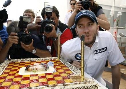 Nick Heidfeld przed GP Hiszpanii świętował swoje 30. urodziny /AFP
