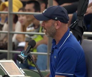 Nick Kyrgios poddał mecz w Szanghaju. Wideo