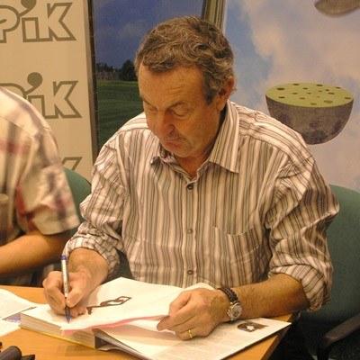 Nick Mason podpisywał swoją książką w Krakowie /INTERIA.PL