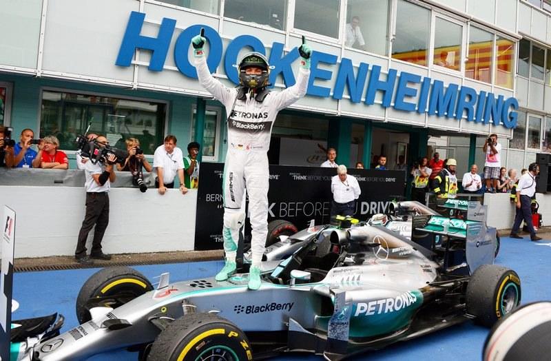 Nico Rosberg wygrał Grand Prix Niemiec /BERND WEISSBROD /PAP/EPA