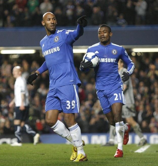 Nicolas Anelka, napastnik Chelsea po strzeleniu gola Boltonowi. /AFP