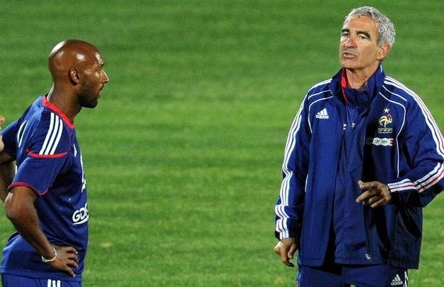 Nicolas Anelka obraził trenera Raymonda Domenecha /AFP