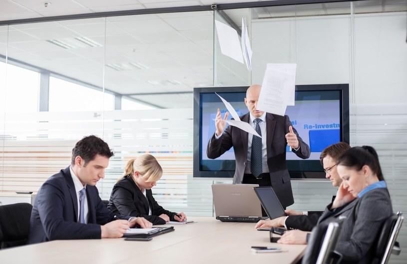 Nie wszyscy szefowie umieją się odpowiednio zachowywać /©123RF/PICSEL