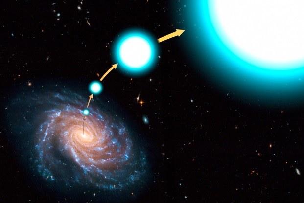 Nie wszystkie gwiazdy hiperprędkościowe są błękitnymi olbrzymami /materiały prasowe