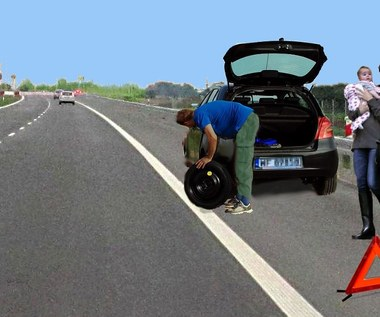 Nie zmieniaj koła na autostradzie