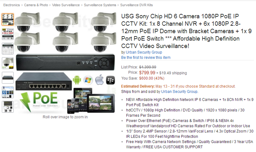 Niebezpieczne kamery oferowane w serwisie Amazon /materiały prasowe