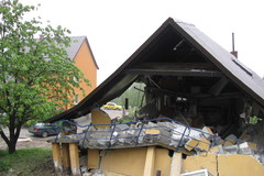 Niebezpieczne osuwiska w Lanckoronie
