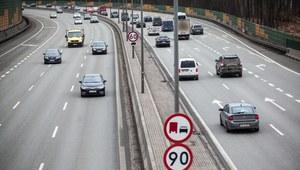 Niecodzienny widok na trasie S8 w Warszawie