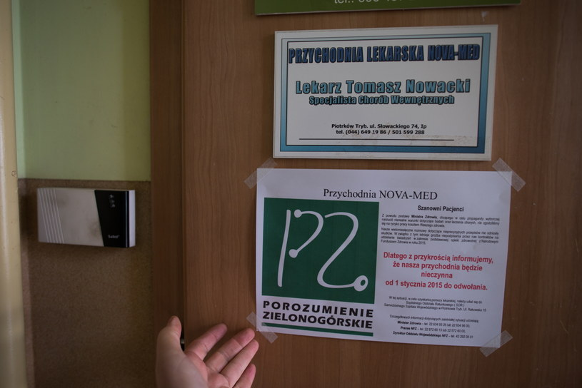 Nieczynna przychodnia lekarska /Grzegorz Michałowski /PAP