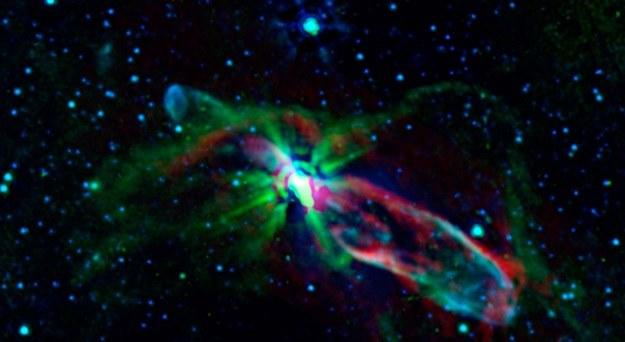 Niedawno zaobserwowany HH 46/47 /NASA