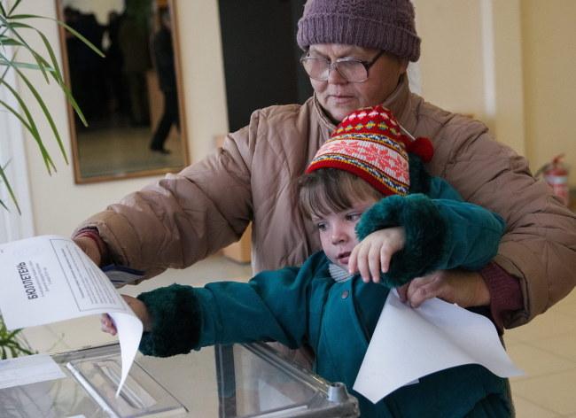 Niedzielne wybory na wschodzie Ukrainy /ALEXANDER ERMOCHENKO /PAP/EPA
