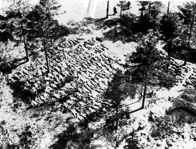 Niemiecka ekshumacja zwłok polskich jeńców w Katyniu, fotografia niemiecka, fot. KARTA /Agencja FORUM