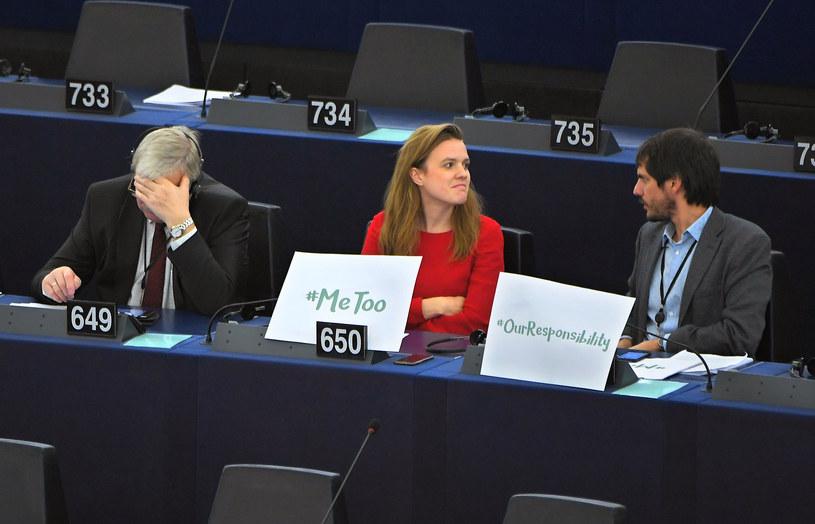 Niemiecka europosłanka Terry Reintke włączyła się w akcję #metoo /AFP