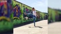 Niesamowite sztuczki kobiety z piłką