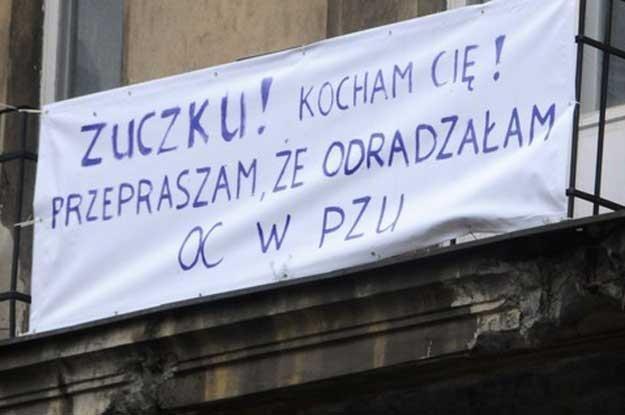 Nietypowa reklama ubezpieczenia komunikacyjnego PZU  Fot. Włodzimierz Wasyluk /Reporter