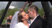Nietypowy ślub w… balonie