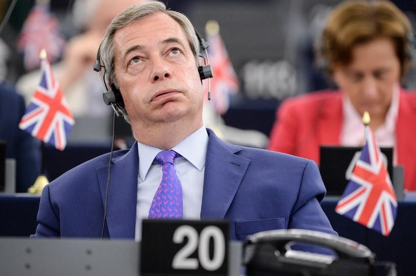 Nigel Farage - brytyjski eurodeputowany, który agitował za wyjściem z UE /AFP