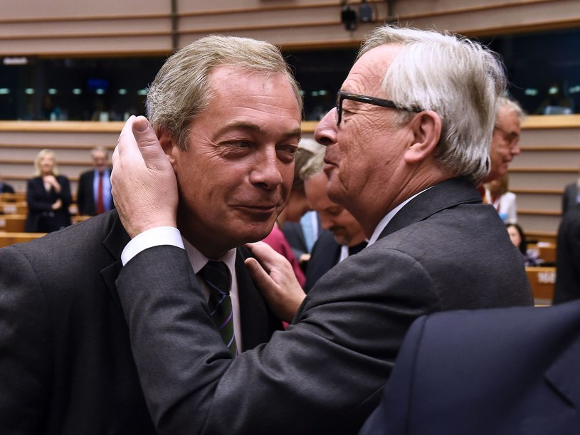 Nigel Farage i Jean-Claude Juncker /AFP