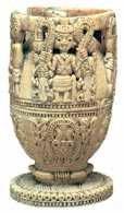 Nigeria: kielich z kości słoniowej ludu Joruba, XVII lub XVIII w. /Encyklopedia Internautica