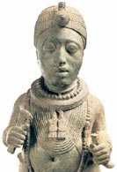 Nigeria: spiżowa statuetka władcy Ife z plemienia Jorubów /Encyklopedia Internautica