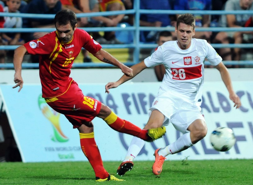 Nikola Drincic strzelił gola w meczu z Polską /AFP