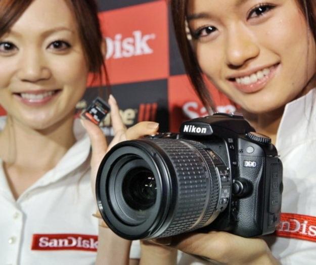 Nikon D90 - to już propozycja dla osób, które szukają bardziej profesjonalnego sprzętu /AFP
