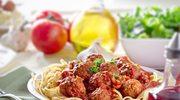 Nitki z pulpetami w pomidorach