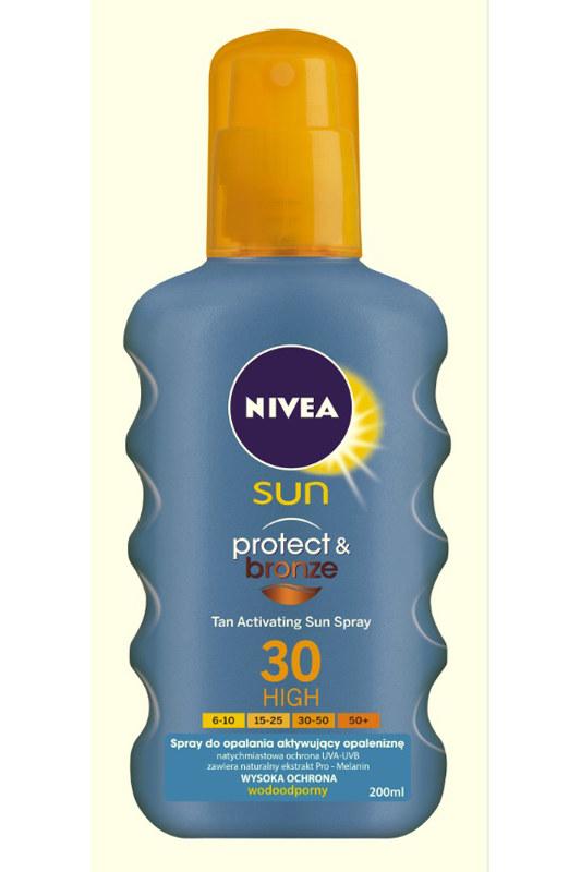 NIVEA Sun Protect & Bronze Tan Activating Sun Spray /materiały prasowe