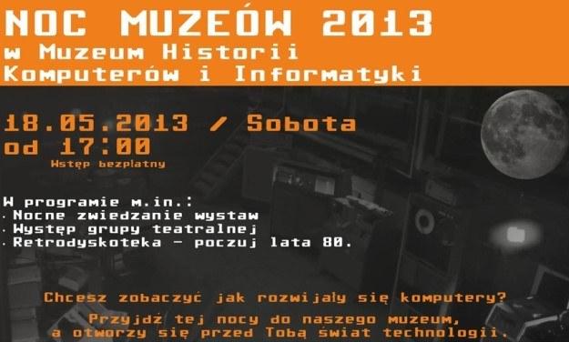 Noc Muzeów 2013 /materiały prasowe
