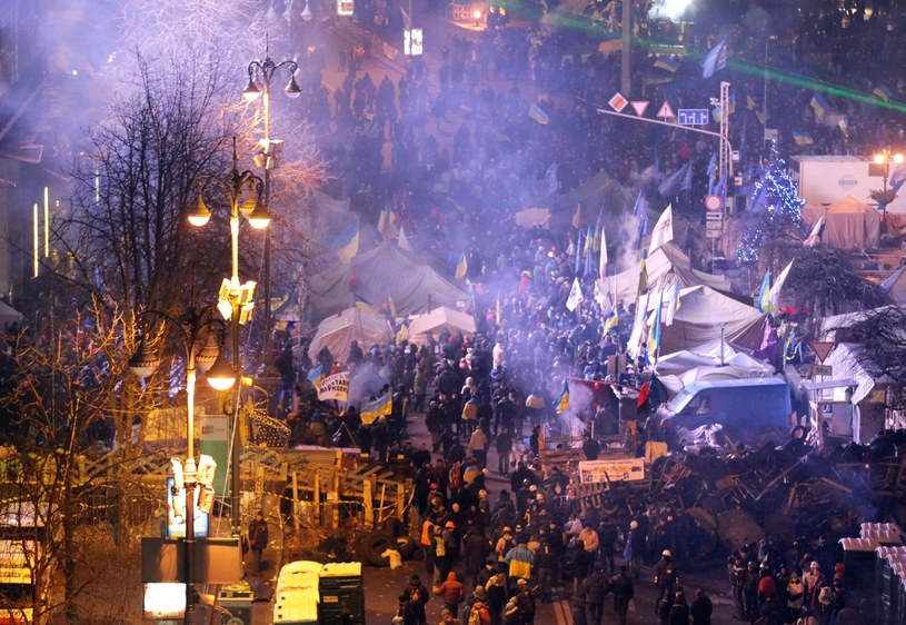 Noc na kijowskim placu Niepodległości minęła spokojnie /AFP