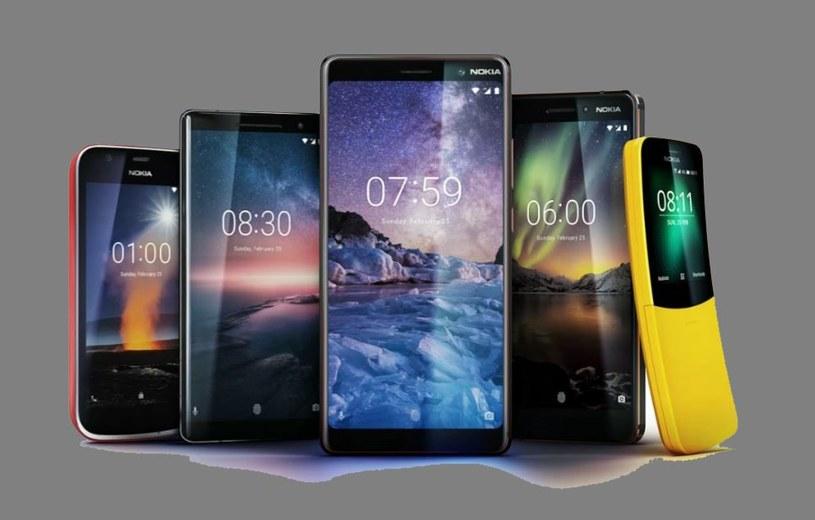 Nokia 1, Nokia 8110 4G, Nokia 6 2018, Nokia 7 Plus i Nokia 8 Sirocco /INTERIA.PL