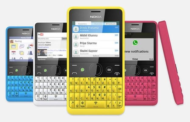 Nokia Asha 210 - będzie dostępna w kilku kolorach /materiały prasowe