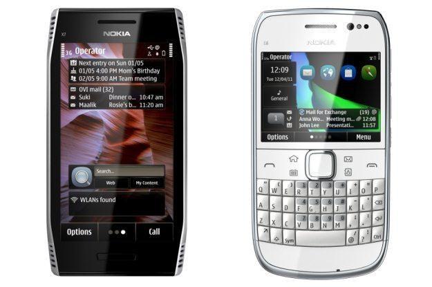 Nokia X7 (po lewej) oraz  Nokia E6 - mała reaktywacja Symbiana /materiały prasowe