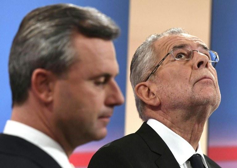 Norbert Hofer i Alexander Van der Bellen /AFP