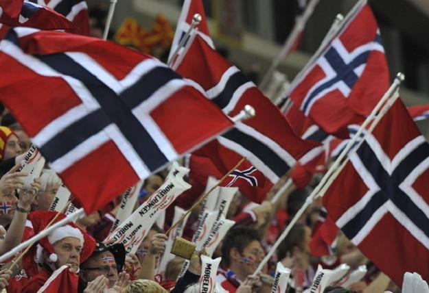 Norwescy kibice okazali się bardzo pomysłowi. /AFP