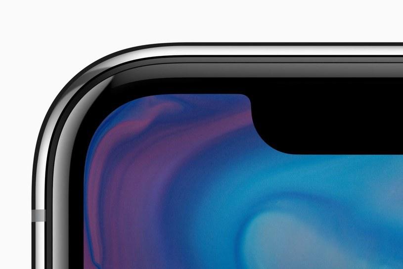 """""""Notch"""" - tak Amerykanie nazywają charakterystyczne wycięcie w ekranie iPhone'a X /materiały prasowe"""