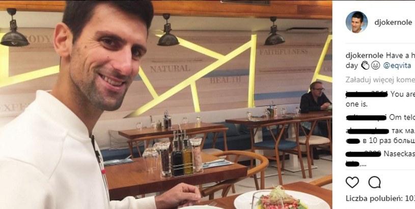 Novak Djoković będzie żywił biednych rodaków w Serbii /printscreen/Instagram /
