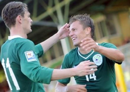 Novaković cieszył się z bramki zdobytej w meczu ze Słowacją /AFP