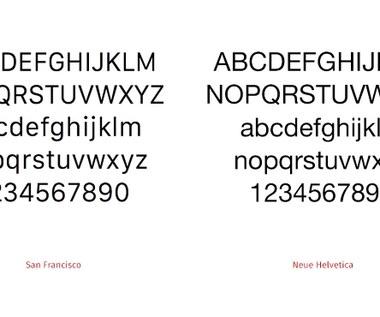 Nowa czcionka w iOS i OS X