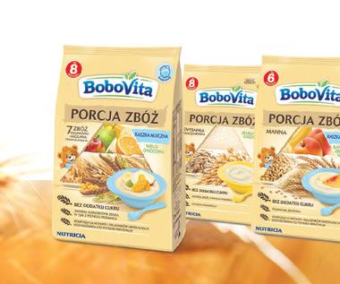 Nowa linia kaszek BoboVita PORCJA ZBÓŻ bez dodatku cukru