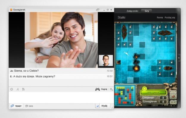 Nowa wersja komunikatora umożliwia także m.in. granie w gry /materiały prasowe