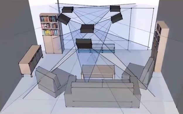 """Nowa wersja """"środowiskowego wyświetlacza"""" Microsoftu Room Alive /materiały prasowe"""