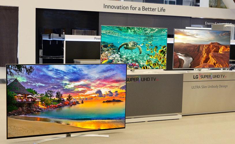 Nowe telewizory LG zaprezentowane podczas targów CES 2016 w Las Vegas /materiały prasowe