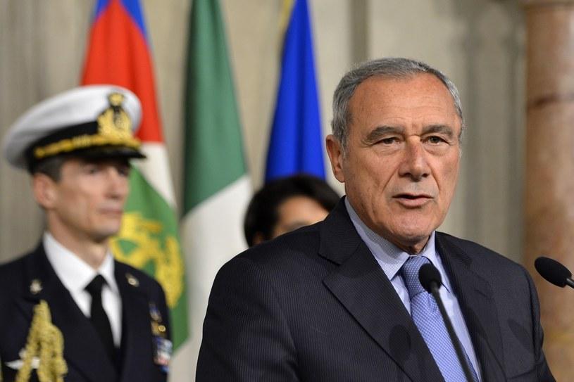 Nowo wybrany przewodniczący Senatu Włoch Pietro Grasso /AFP