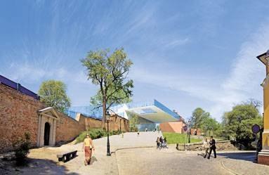 """Nowoczesny projekt """"szklanego zamku"""" budzi w Poznaniu dużo kontrowersji /archiwum UM /EchoMiasta_Poznań"""