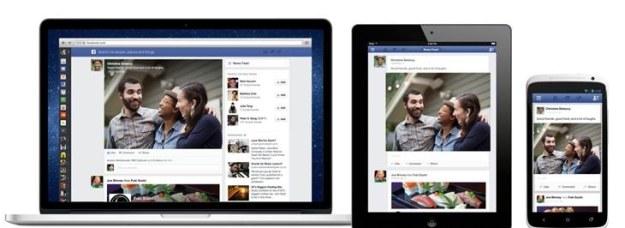 Nowy Facebook na różnych urządzeniach /materiały prasowe