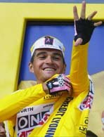 Nowy lider wyścigu Igor Gonzalez de Galdeano /INTERIA.PL