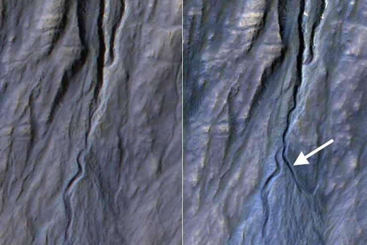 Nowy marsjański żleb okiem HiRISE /NASA
