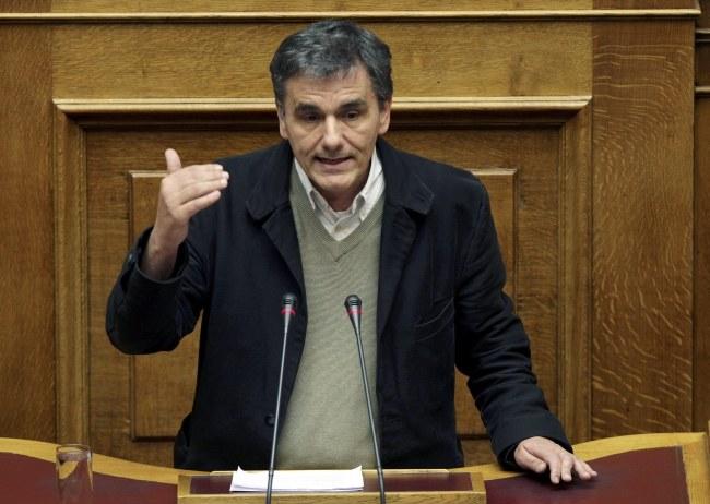 Nowy minister finansów Grecji Euklid Cakalotos /SIMELA PANTZARTZI  /PAP/EPA