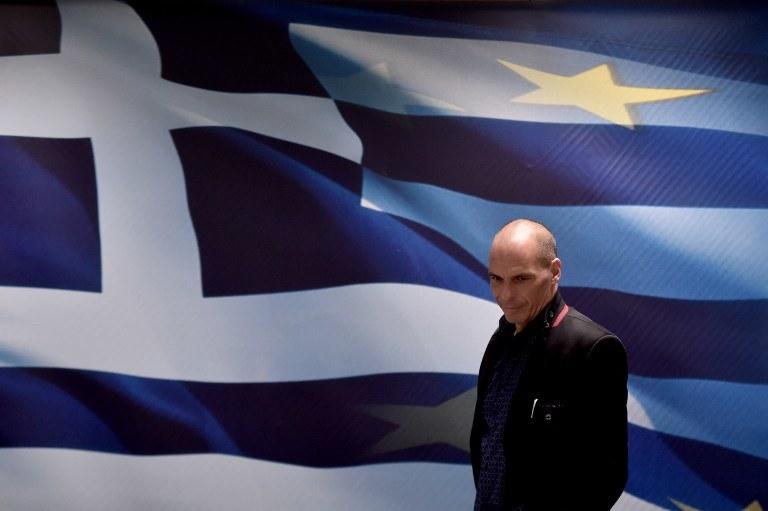 Nowy minister finansów Grecji Janis Warufakis /Aris Messinis /AFP